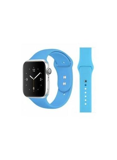 Jacobson Apple Watch Mavi Kayış Silikon Kordon 42/44 mm Mavi